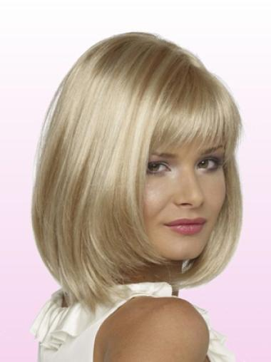 "Perruques Bob Flexible Blonde 10"" Lisse"