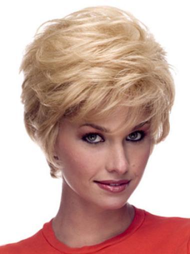 """Perruques Courtes 6"""" Haute Qualité Blonde"""