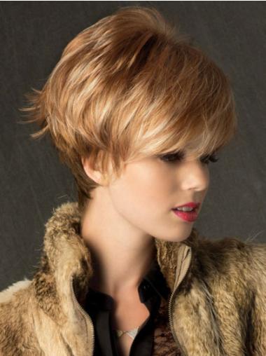 """Perruques Courtes 6"""" Branchée Blonde"""