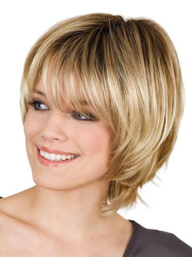 "Perruques Courtes 8"" Propre Blonde"