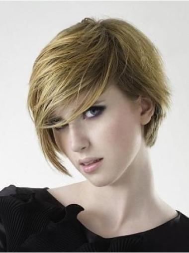 """Perruques Courtes 6"""" Pratique Blonde"""