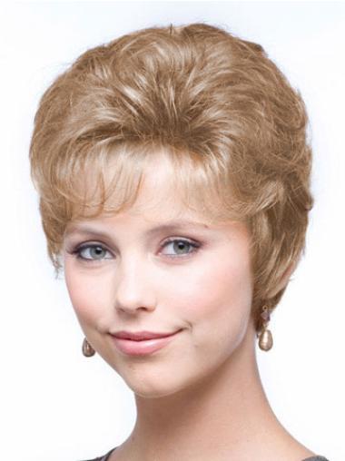 "Perruques Classiques 8"" Confortable Blonde"