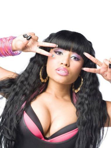 "Perruques Nicki Minaj 24"" Moderne Noir"