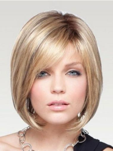 """Perruques Bob Branchée Blonde 10"""" Lisse"""