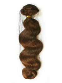 Extensions Enclaver dans les Cheveux Auburn Ondulé
