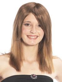 Compléments en Cheveux Humains Brune Longue Lisse