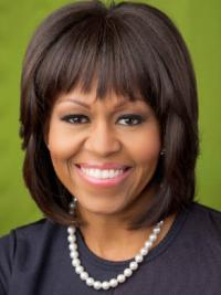 """Perruques Michelle Obama Avec Frange 10"""" Lace Front"""