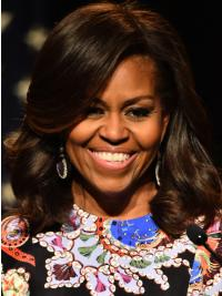 """Perruques Michelle Obama Multicouche Nouveau 12"""" Lace Front"""