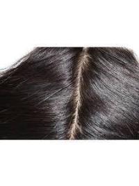 Fermeture de Lace Cheveux Humains Noir Lisse