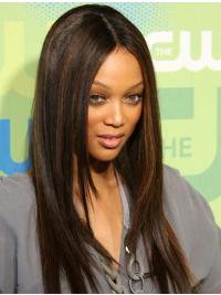 "Perruques Tyra Banks 20"" Appropriée Brune"