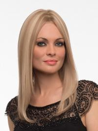 "Perruques Cheveux Humaines 16"" Populaire Blonde"