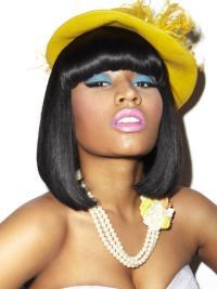 "Perruques Nicki Minaj 11"" Haute Qualité Noir"