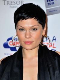 """Perruques Jessie J 4"""" Haute Qualité Noir"""