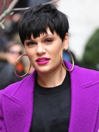 """Perruques Jessie J 4"""" Elégante Noir"""