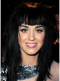 """Perruques Katy Perry 17"""" Parfaite Noir"""