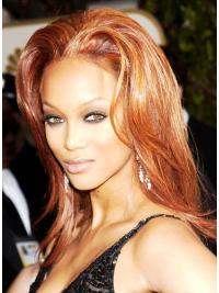 "Perruques Tyra Banks 15"" Propre Auburn"