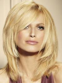 "Remy Human Perruques Lace 16"" Confortable Blonde"
