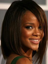 "Perruques Rihanna 12"" Durable Brune"