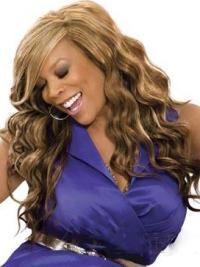 "Perruques Wendy Williams 20"" Ondulé Brune Abordable"